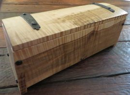 Curly maple with mineral streaking