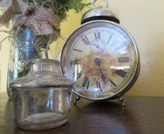 Inkwell & Early 1900's alarm clock