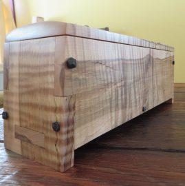 Custom curly maple knife box