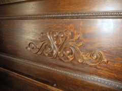 Carved piano desk detail