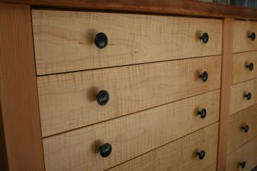 Curly maple drawer fronts