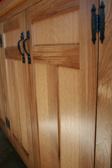 Quartersawn white oak door panels.